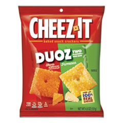 Sunshine® Cheez-it Duoz Crackers, Sharp Cheddar and Parmesan, 4.3 oz Bag, 6/Pack