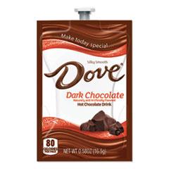 Dove® Chocolate Dark Hot Chocolate, 0.58 oz FreshPack, 72/Carton