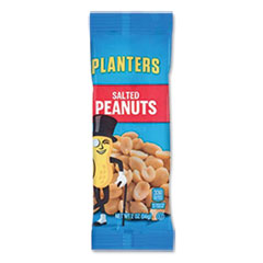 Planters® Salted Peanuts, 2 oz Packet, 144/Carton