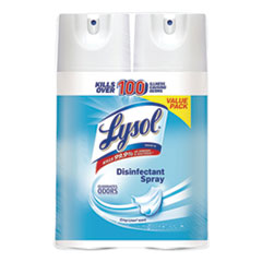 LYSOL® Brand Disinfectant Spray, Crisp Linen, 12.5 oz Aerosol, 2/Pack, 6 Pack/Carton