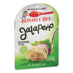 Bumble Bee® Ready to Enjoy Seasoned Tuna, Jalapeno, 2.5 oz Pouch, 12/Carton