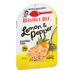 Bumble Bee® Ready to Enjoy Seasoned Tuna, Lemon and Pepper, 2.5 oz Pouch, 12/Carton