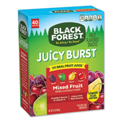 Black Forest® Juicy Burst Fruit Flavored Snack, Mixed Fruit, 32 oz, 40/Box