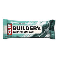 CLIF® Bar Builders Protein Bar, Chocolate Mint, 2.4 oz Bar, 12 Bars/Box