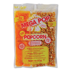 Gold Medal Mega Pop Popcorn, Butter, 8 oz Bag, 36 Bags/Carton