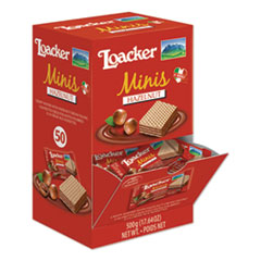 Loacker Classic Mini Snack, Hazelnut, 0.35 oz, 50/Box
