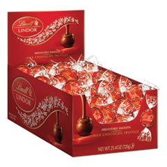 Lindt Lindor Milk Chocolate Truffles, 25.4 oz Box, 60/Box