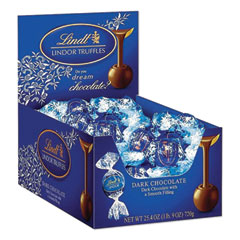 Lindt Lindor Dark Chocolate Truffles, 25.4 oz Box, 60/Box