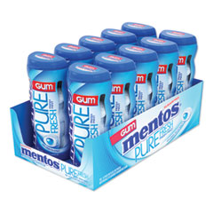Mentos® Pure Fresh Sugar-Free Gum, Mint, 15 Pieces/Pack, 10 Packs/Box