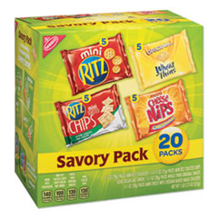 Nabisco® Savory Variety Pack, Assorted Cracker Varieties and Sizes, 20/Carton