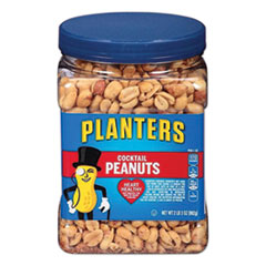 Planters® Cocktail Peanuts, Salted, 35 oz Canister