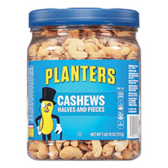 Planters® Salted Cashew Halves and Pieces, 26 oz Canister