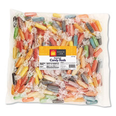 Snack Jar™ Mini Hard Candy Rods, Assorted, 2.7 lb Bag, Approximately 65 Pieces
