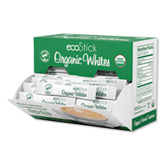 ecoStick Organic White Sugar Packets, 2.8 g Packet, 120 Packets/Box