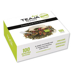 Teaja® Loose Leaf Tea Filters, 100/Box