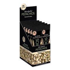Paramount Farms® Wonderful Pistachios, Roasted and Salted, 1.25 oz Tube, 12/Box
