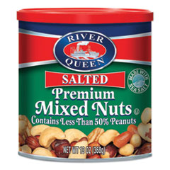 River Queen Premium Mixed Nuts, 13 oz Canister