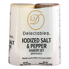 Delectables® Salt and Pepper Shaker Combo, 4 oz Salt Dispenser and 1.5 oz Pepper Dispenser