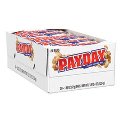 PayDay PayDay Chewy Candy Bars, Peanut Caramel, 1.85 oz, 24/Box