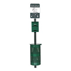 Poopy Pouch Imperial Pet Waste Station, 12 x 14 x 96, Hunter Green