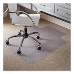 """Task Series Chair Mat with AnchorBar for Carpet up to 0.25"""", 36 x 48, Clear"""