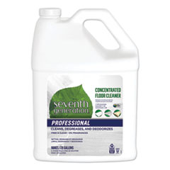 Seventh Generation® Professional Concentrated Floor Cleaner, Free and Clear, 1 gal Bottle, 2/Carton