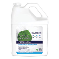 Seventh Generation® Professional Disinfecting Bathroom Cleaner, Lemongrass Citrus, 1 gal Bottle