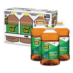 Pine-Sol® Multi-Surface Cleaner Disinfectant, Pine, 144oz Bottle, 3 Bottles/Carton