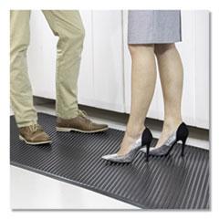 ES Robbins® Feel Good Anti-Fatigue Floor Mat, Continuous Runner, 35 x 120, PVC, Black