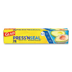 Glad® Press'n Seal Food Plastic Wrap, 70 Square Foot Roll, 12/Carton