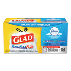 Glad® ForceFlexPlus™ OdorShield® Tall Kitchen Drawstring Trash Bags