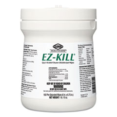 Clorox® Healthcare® EZ-Kill Quat Alcohol Cleaner Disinfectant Wipes