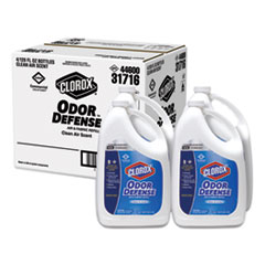 Commercial Solutions Odor Defense Air/Fabric Spray, Clean Air, 1 gal Bottle, 4/Carton