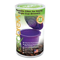 ekobrew™ Reusable Filter for Keurig 2.0 and 1.0 Single Cup Brewers, Purple