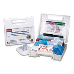 First Aid Only™ Bloodborne Pathogen and Personal Protection Kit with Microshield, 26 Pieces
