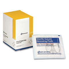 First Aid Only™ Sterile Gauze Pads, 4 x 4, 50/Box