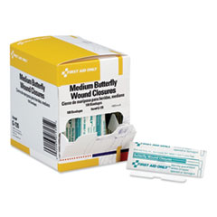 """First Aid Only™ Butterfly Wound Closures, 0.38"""" x 1.75"""", 100/Box"""