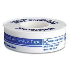 """First Aid Only™ Waterproof-Adhesive Medical Tape, 1"""" Core, 0.5"""" x 15 ft, White"""