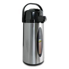 Newco Sight Gauge KK Airpot, 2.2 L, Stainless Steel/Black