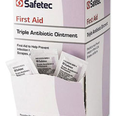 Safetec® First Aid Triple Antibiotic Ointment, 0.03 oz Packet, 144/Box