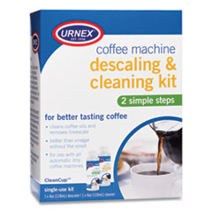 Urnex® Coffee Machine Descaling and Cleaning Kit, 4 oz Descaler and 4 oz Cleaner