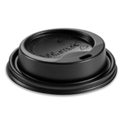 Huhtamaki Hot Cup Lids, Fits 8 oz Hot Cups, Dome Sipper, Black, 1,000/Carton