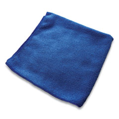 Impact® Lightweight Microfiber Cloths, 16 x 16, Blue, 240/Carton