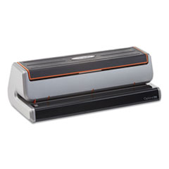 """Swingline® Optima 20 Three-Hole Electric Punch, 20-Sheets, 9/32"""" Holes, Silver/Black"""