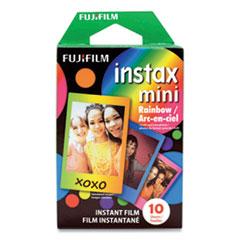 Fujifilm Instax Mini Rainbow Instant Film, 800 ASA, Color, 10 Sheets