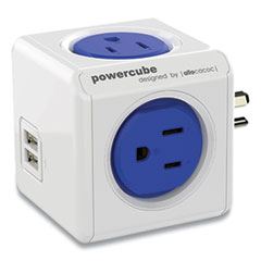 Allocacoc PowerCube Original USB, Blue/White