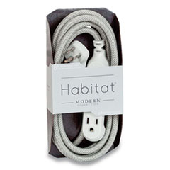 360 Electrical Habitat Accent Collection Braided AC Extension Cord, 8 ft, 13 A, Tungsten