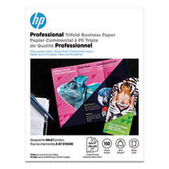 HP Professional Trifold Business Paper, 48 lb, 8.5 x 11, Glossy White, 150/Pack