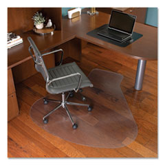 ES Robbins® EverLife Workstation Chair Mat for Hard Floors, With Lip, 66 x 60, Clear