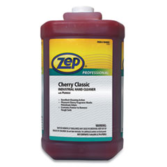Zep Professional® Cherry Industrial Hand Cleaner with Abrasive, Cherry, 1 gal Bottle, 4/Carton